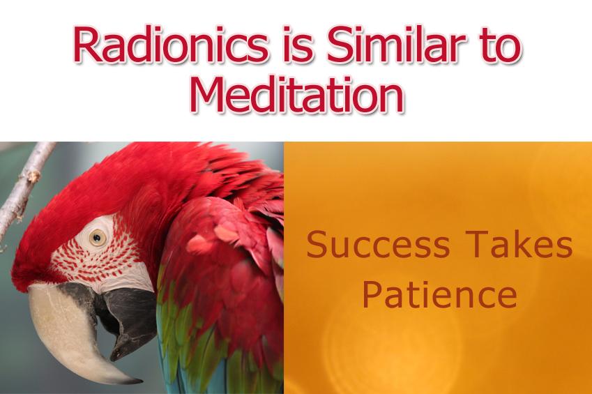Radionics Similar to Meditation