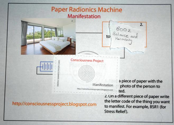Manifestation Paper Radionics Machine Board Setup to Send Energies to a Room/Area